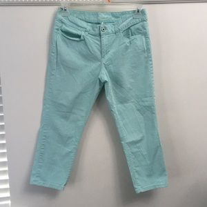 Ann Taylor aqua colored Capri pants